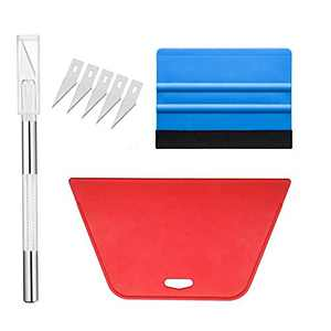 practicalWs Wallpaper Hand Tools Kit Red and Blue Scraper for Wall Paper Smoothing and Remove Bubbles Suitable for Application of Window Film Wall Sticker Vinyl Film