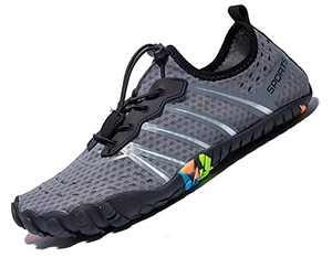 Mens Women Water Sport Shoes Barefoot Quick-Dry Aqua Socks for Beach Swim Surf Yoga Exercise, 10.5 M US Women / 8.5 M US Men