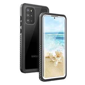 Fansteck Samsung Galaxy Waterproof S20 Plus Case, Underwater Phone Case with Built in Screen Protector and Fingerprint Compatible, Full Body Shockproof Protective Cover for S20 Plus (White & Clear)