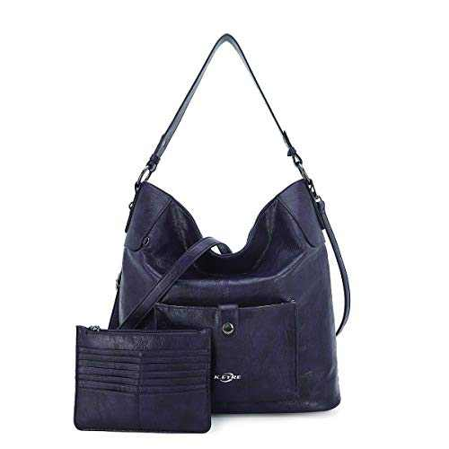 Women Shoulder Handbag Purse Top-Handle Hobo Roomy Casua Ladies' Shoulder Bag Fashion PU Tote Satchel Bag for Women (A-KL5208#687#8PURPLE)