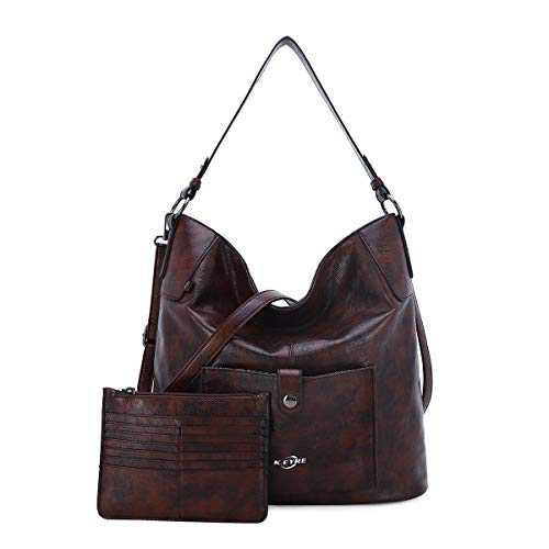Women Shoulder Handbag Purse Top-Handle Hobo Roomy Casua Ladies' Shoulder Bag Fashion PU Tote Satchel Bag for Women (B-KL5208#687#10COFFEE)