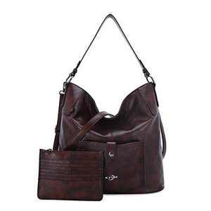 Women Shoulder Handbag Purse Top-Handle Hobo Roomy Casua Ladies' Shoulder Bag Fashion PU Tote Satchel Bag for Women (B-KL5208#687#10COFFEE)