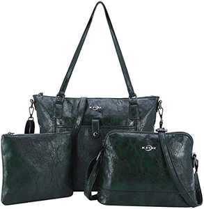 Women Shoulder Handbag Purse Top-Handle Hobo Roomy Casua Ladies' Shoulder Bag Fashion PU Tote Satchel Bag for Wome (A-KL2226#687#4D.GREEN)
