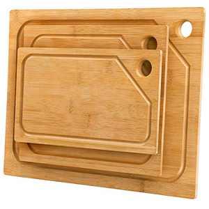 MaxGear Cutting Board Wood Cutting Board Cutting Boards for Kitchen Bamboo Cutting Board Set, Pieces of 3
