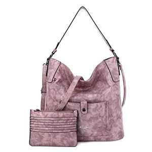 Women Shoulder Handbag Purse Top-Handle Hobo Roomy Casua Ladies' Shoulder Bag Fashion PU Tote Satchel Bag for Women (A-KL5208#687#3PINK)