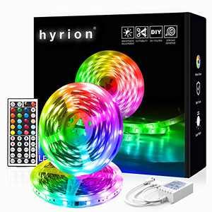 32.8ft LED Light Strips, hyrion RGB LED Strip Lights with Remote, Color Changing Led Lights for Bedroom 300 LEDs
