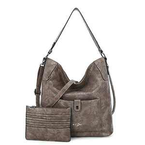 Women Shoulder Handbag Purse Top-Handle Hobo Roomy Casua Ladies' Shoulder Bag Fashion PU Tote Satchel Bag for Women (C-KL5208#687#13KHAKI)