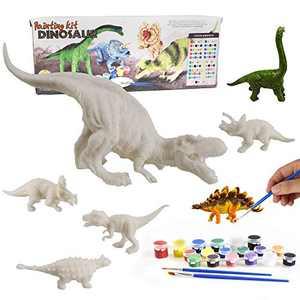 Dinosaur Painting Kits, DIY Dinosaur Crafts and Supplies Set Painting Kit, Dinosaur Modeling, STEM Educational Set Toys for Kids Boys Girls