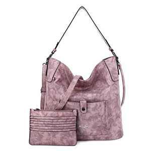 Women Shoulder Handbag Purse Top-Handle Hobo Roomy Casua Ladies' Shoulder Bag Fashion PU Tote Satchel Bag for Women (D-KL5208#687#3PINK)