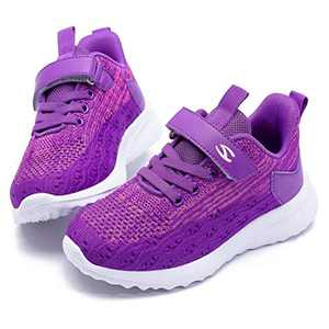 WOUEOI Kid Boys Girls Shoes Running Sports Sneakers Toddler/Little (Purple 5.5 Toddler)