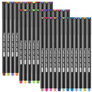 GOLDGE Fineliner Pens, 36-Colors Fine Point Pens Set with 0.4mm Fine Tip, Fineliner Color Pen for Drawing, Sketch, Writing, Journal, Note and Coloring Books