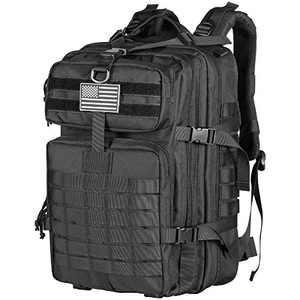 Himal Military Tactical Backpack - Large Army 3 Day Assault Pack Molle Bag Rucksack,40L,Black