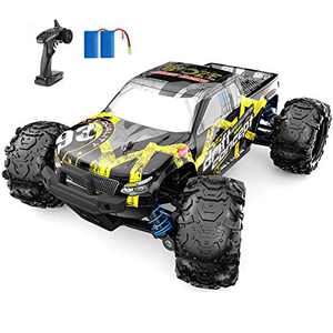 SZJJX RC Cars 40+ KM/H High Speed Remote Control Car 4WD RC Monster Truck for Adults, All Terrain Off Road Toy Truck with Extra Shell 2 Batteries, 40+ Min Play Car Gifts for Kids
