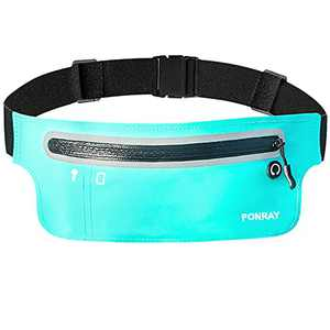 PONRAY Slim Running Belt Fanny Pack for Women Men, Phone Holder for Running Workout Fitness Walking Jogging Exercise Sport Gym for iPhone 11 Pro Max 8 Plus Samsung Galaxy Note 10