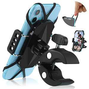 Bike Phone Holder Mount,Universal Premium Motorcycle Cell Phone Mount,Anti Shake and Stable Adjustable 360°Cradle Handlebar Holder Bicycles,Stroller or Motorbike for iPhone 11,8, 7 Xs/Samsung/GPS