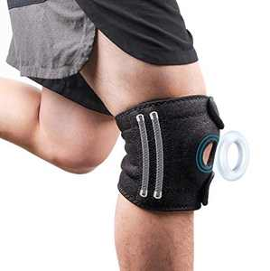 Knee Brace, YIKA Knee Pad Support: for Men and Women, Workout Running, Hiking, Arthritis, ACL, Meniscus Tear, Sports.with Anti-Slip Protective and Side Stabilizers (Black)