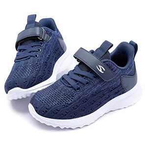WOUEOI Kid Boys Girls Shoes Running Sports Sneakers Toddler/Little (Navy 1 Little_Kid)