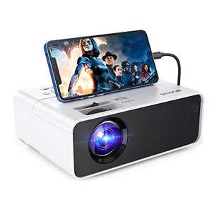 1080p Projector for Outdoor Movie,SMONET Portable Movie Mini Projector for Outdoor Indoor Use,Home Theater Video LED LCD Projector Compatibale with TV Stick Laptops PC PS4 HDMI USB HML