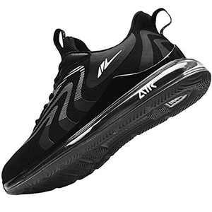 AMAXM Women Air Athletic Running Sneakers Fashion Tennis Gym Sports Training Walking Shoes (Blackwhite US 9 B(M)