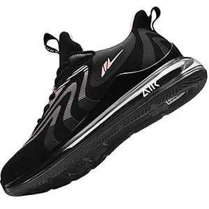AMAXM Women Air Athletic Running Sneakers Fashion Tennis Gym Sports Training Walking Shoes (Blackorange US 6B(M)