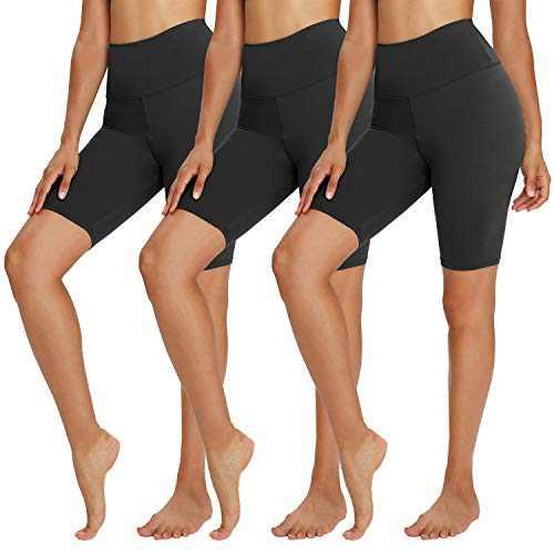 """TNNZEET 3 Pack Biker Shorts for Women – 8"""" Buttery Soft High Waisted Yoga Cycling Workout Shorts"""