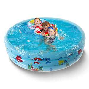 Round Inflatable Swimming Pool, Portable Inflatable Pool, Paddling Pool Indoor&Outdoor Toddler Water Game Play Center (47.2in X 9.8in)