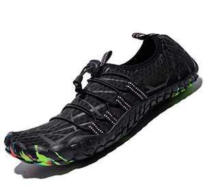 Mens Women Water Sport Shoes Barefoot Quick-Dry Aqua Socks for Beach Swim Surf Yoga Exercise, 12.5 Women/11 Men