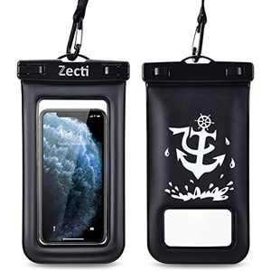 Zecti wasserdichte Universal-Schutzhülle, wasserdichte Handytasche für iPhone 12 Pro Max XS Max XR X 8 7S Plus – 2 Stück