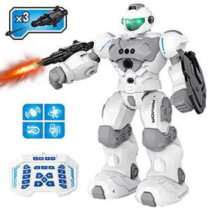 Pickwoo Remote Control Robot for Kids, RC Robot Toy Intelligent Programmable Gesture Sensing, Singing, Dancing, Smart Educational Robot Birthday Gift for Boys Girls Age 3-12 (R21)