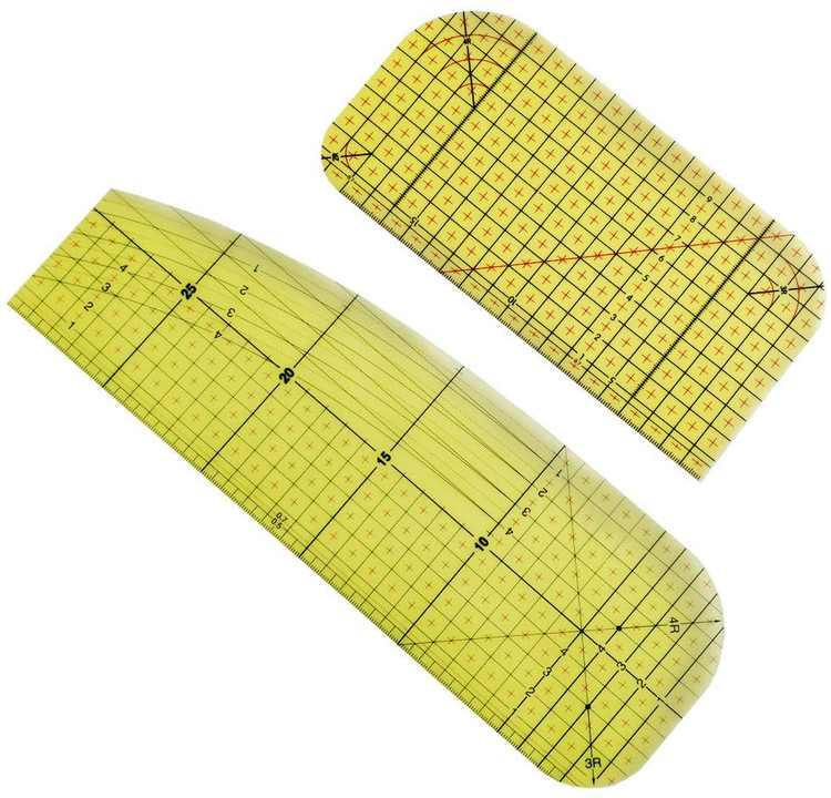 Hot Ironing Ruler, ZoneYan Heat Resistant Ruler, High Temperature Ironing Ruler, Ironing Ruler Set, Iron Special Ruler, Patch Tailor Craft DIY Sewing Supplies, Measuring Portable Handmade Tool