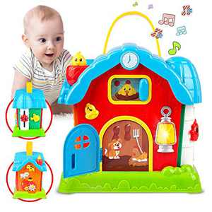 Kidpal Baby Toys for 2 3 Year Old 18 24 Months Girls Boys, Baby Activity Cube Play Center with Music & Lights, Early Educational Learning Musical Toys for Developmental Toddler