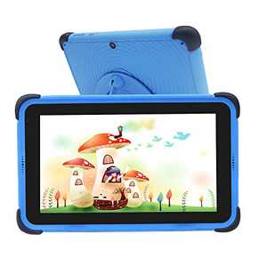 Kids Tablet 7 inch 32GB ROM 2GB RAM Kidoz Learning Tablets IPS HD Display WiFi Android 10.0 Tablet Compatible with Disney+ App, Kid-Proof Bluetooth Tablets for Children, Blue