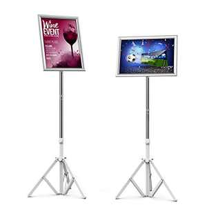 BUYOOKAY Sign Holders Stands for 13x10inch,Adjustable Sign Stand Both Vertical and Horizontal View Displayed can Quickly and Easily Replace Posters