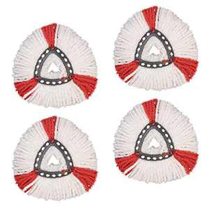 GIB cleaningtool 4 Packs Mop Replacement Heads Compatible with Spin Mop, Microfiber Spin Mop Refills Easy Cleaning Mop Head