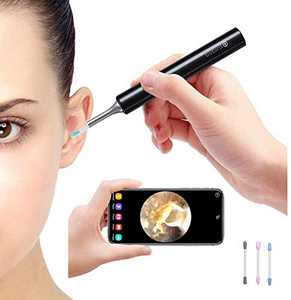 Ear Wax Removal Endoscope, WiFi Ear Camera,Ear Wax Removal Tool,1080P FHD Wireless Ear Otoscope Camera with 3-Axis Gyroscope,Ear Scope with Ear Wax Cleaner Tool for iPhone, iPad & Android Smart Phones