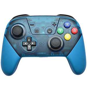 Wireless Switch Pro Controller for N-Switch and Switch Lite, 1000mAh Built-in Rechargeable Battery Switch Controller, Switch Controller with 6-Axis Somatosensory Design (Blue)