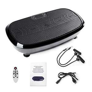 Dual Motor 3D Vibration Plate Exercise Machine - Horizontal,Oscillation + 3D Motion,Upgraded Vibration Platform Machines with Bluetooth Speakers for Whole Body Workout Exercise Toning Weight Loss