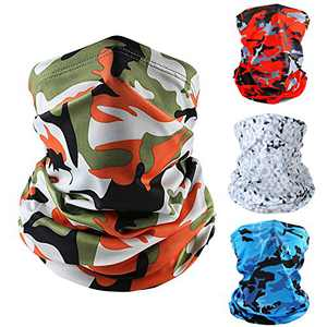 4 PACK Bandana Colorful camouflage Face Masks Windproof UV Protection Scarf Neck Gaiter Tube Headwear Face Cover (3)