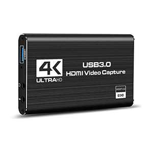 Gexmil Video Capture Card HDMI Audio Game Capture Card, USB 3.0 4K Stream and Record in 1080P 60fps Portable Video Converter for Game Streaming Live Broadcasts Video Recording