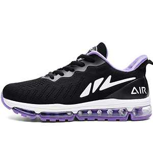 MAFEKE Women Air Running Shoes Cushion Tennis Breathable Casual Walking Sneakers (Purple US 5.5B(M)