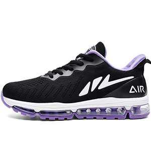MAFEKE Women Air Running Shoes Cushion Tennis Breathable Casual Walking Sneakers (Purple US 6.5B(M)