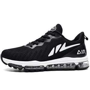 MAFEKE Women Air Running Shoes Cushion Tennis Breathable Casual Walking Sneakers (Black US 6B(M)