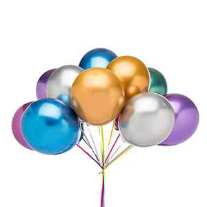 Colorful Party Balloons 12 Inch 72 Pcs Shiny Metallic Helium Balloons for Birthday and Wedding