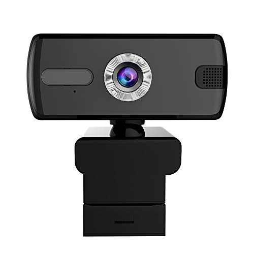 Webcam with Microphone, 360 Degree Rotation 1080P HD Webcam,USB Streaming Computer Web Camera with 110-Degree Wide View Angle, for Laptop,Desktop,Video Calling Recording Conferencing