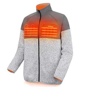 Men's Heated Jacket Lightweight Full Zip Heated Fleece Jacket