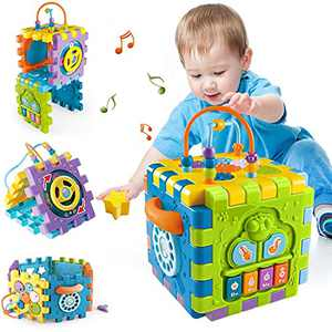 Activity Cube Toddler Toys for 6-12 Months,Early Educational Musical Toys for 12-18 Months,1 Year Old Babies Play Center, Boys Girls Gifts for 1 2 Years Old
