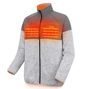 Men's Heated Jacket Lightweight Full Zip Heated Fleece Jacket