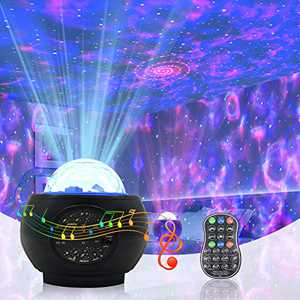 Galaxy Projector, Night Light with 3 in 1 Star Projector Night Light Built-in Bluetooth Music Speaker & Remote Control for Kids and Adults, Starry Projector with Timer for Bedroom/Party/Home Decor