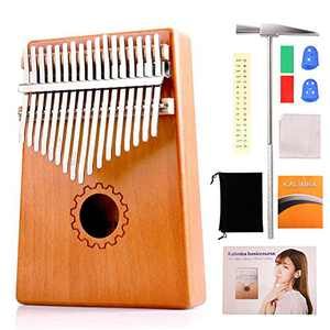 Handmade Gift, Kalimba Thumb Piano, Portable Finger Piano, Mini Musical Instrument with Bag including Study Instruction and Tune Hammer