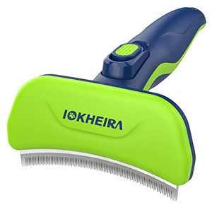 IOKHEIRA Dog Brush for Shedding, Self-Cleaning Dog Grooming Kit, Stainless Steel Dog Deshedding Brush, Dog Brushes for Grooming Large Dogs, Pet Grooming Brush for Cats & Dogs